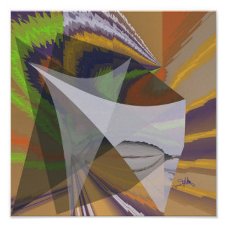 Abstract and Shapes Poster