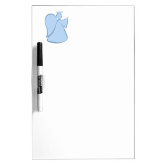 Abstract Angel Blue Dry Erase White Board