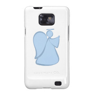 Abstract Angel Blue Galaxy SII Cases