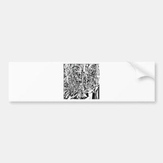 abstract angel car bumper sticker