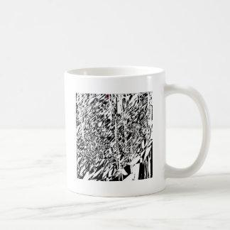 abstract angel classic white coffee mug