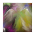 Abstract Angel Design Small Square Tile