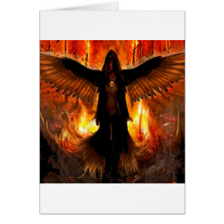 Abstract Angel Hell Fire Card