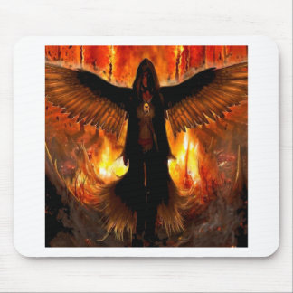 Abstract Angel Hell Fire Mouse Pad