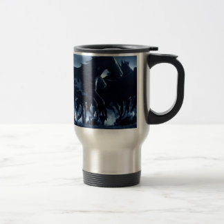 Abstract Angel Horses Moonlight 15 Oz Stainless Steel Travel Mug