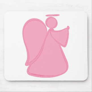 Abstract Angel Pink Mouse Pad