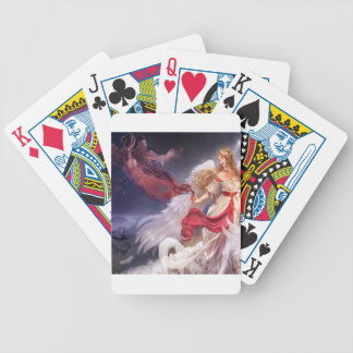Abstract Angel Quiet Dark And Light Bicycle Playing Cards