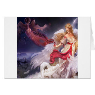 Abstract Angel Quiet Dark And Light Card