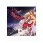 Abstract Angel Quiet Dark And Light Post Card