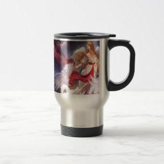 Abstract Angel Quiet Dark And Light Travel Mug