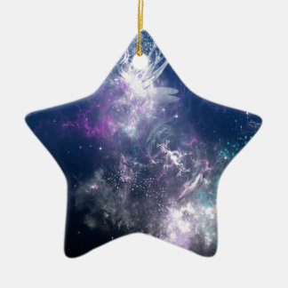 Abstract Angel Space Storm Christmas Ornament