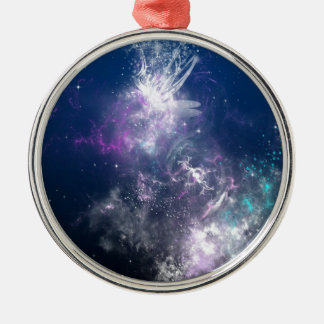 Abstract Angel Space Storm Christmas Ornaments