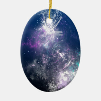 Abstract Angel Space Storm Christmas Tree Ornament