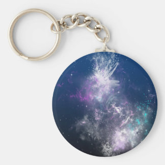 Abstract Angel Space Storm Keychains