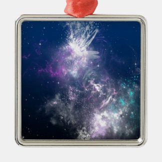 Abstract Angel Space Storm Ornament