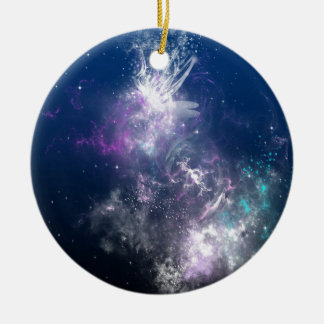 Abstract Angel Space Storm Ornaments
