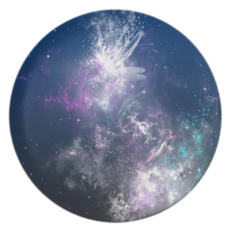 Abstract Angel Space Storm Plates