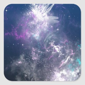 Abstract Angel Space Storm Stickers