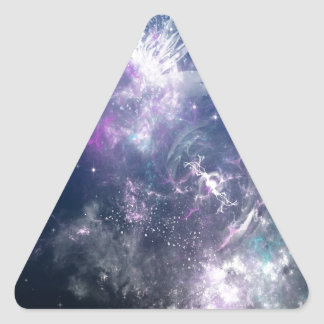Abstract Angel Space Storm Triangle Sticker