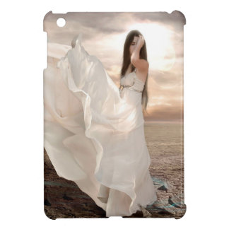 Abstract Angel White Dressed Beauty Case For The iPad Mini