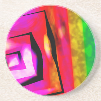 Abstract Angles & Lines Coaster