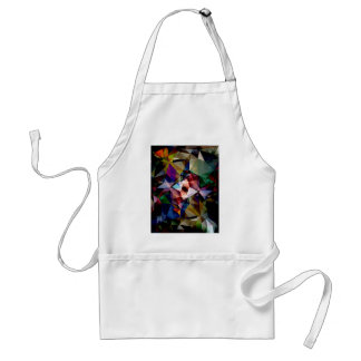 Abstract Angles of Color Adult Apron