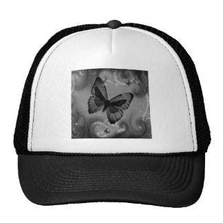 Abstract Animal Black Butterfly Trucker Hat