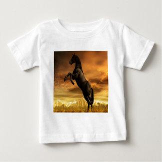 Abstract Animal Black Horse Baby T-Shirt