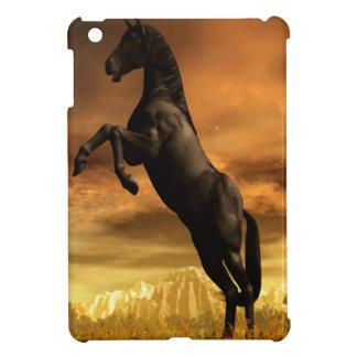 Abstract Animal Black Horse iPad Mini Case
