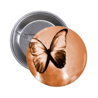 Abstract Animal Butterfly Brown Buttons
