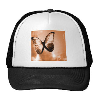 Abstract Animal Butterfly Brown Trucker Hat