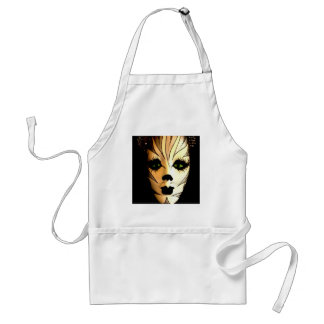 Abstract Animal Cat Mask Adult Apron