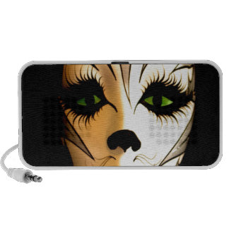 Abstract Animal Cat Mask Notebook Speakers