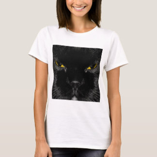 Abstract Animal Cats Eye Yellow T-Shirt