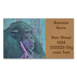 abstract animal chimp magnetic business card