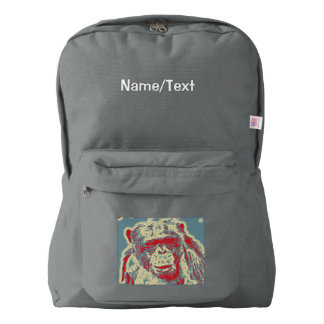 abstract Animal - Chimpanzee American Apparel™ Backpack