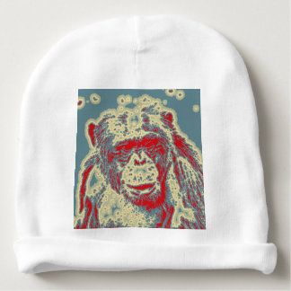 abstract Animal - Chimpanzee Baby Beanie