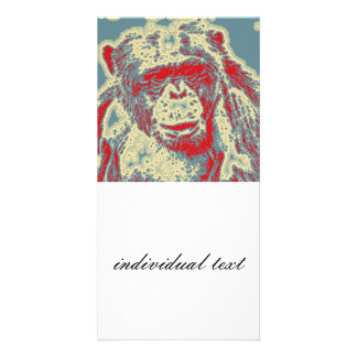 abstract Animal - Chimpanzee Card
