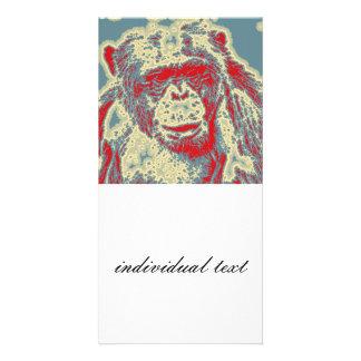 abstract Animal - Chimpanzee Card