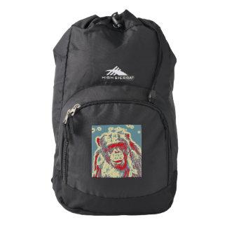 abstract Animal - Chimpanzee High Sierra Backpack