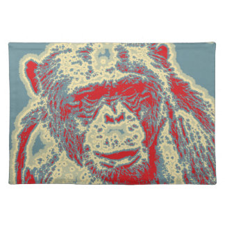 abstract Animal - Chimpanzee Placemat