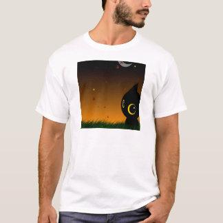 Abstract Animal Cute Night Cat T-Shirt