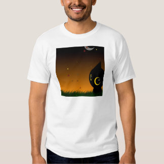 Abstract Animal Cute Night Cat Tshirt