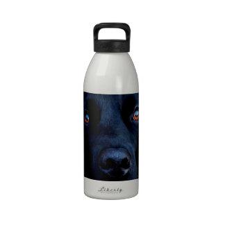Abstract Animal Dark Dog Water Bottle