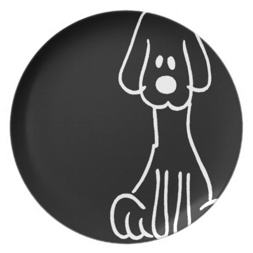Abstract Animal Doodle Dog Dinner Plates