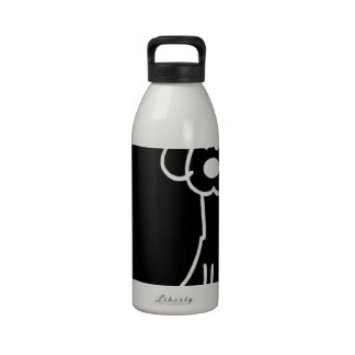 Abstract Animal Doodle Dog Drinking Bottles