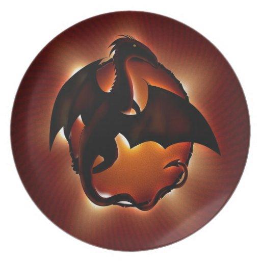 abstract animal dragon storm.jpg dinner plates