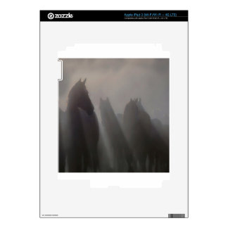 Abstract Animal Ghost Horses Decals For iPad 3