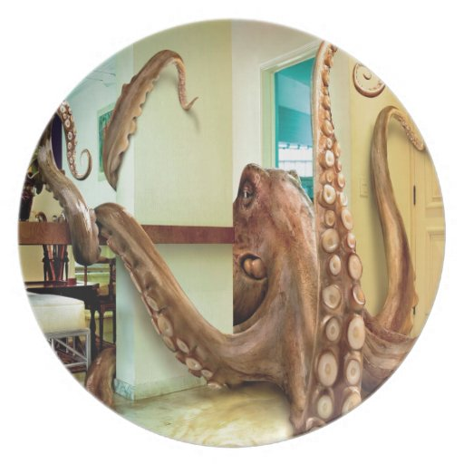 Abstract Animal Home Octopus Party Plates