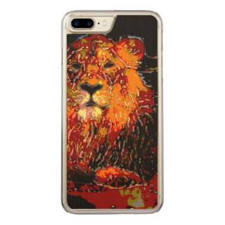 abstract Animal - Lion Carved iPhone 7 Plus Case